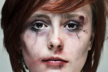 photo of girl with messy makeup