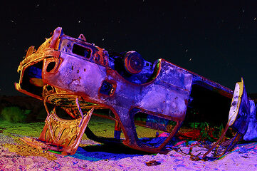 photo of abandoned and burnt car