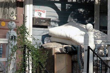 photo of messy porch