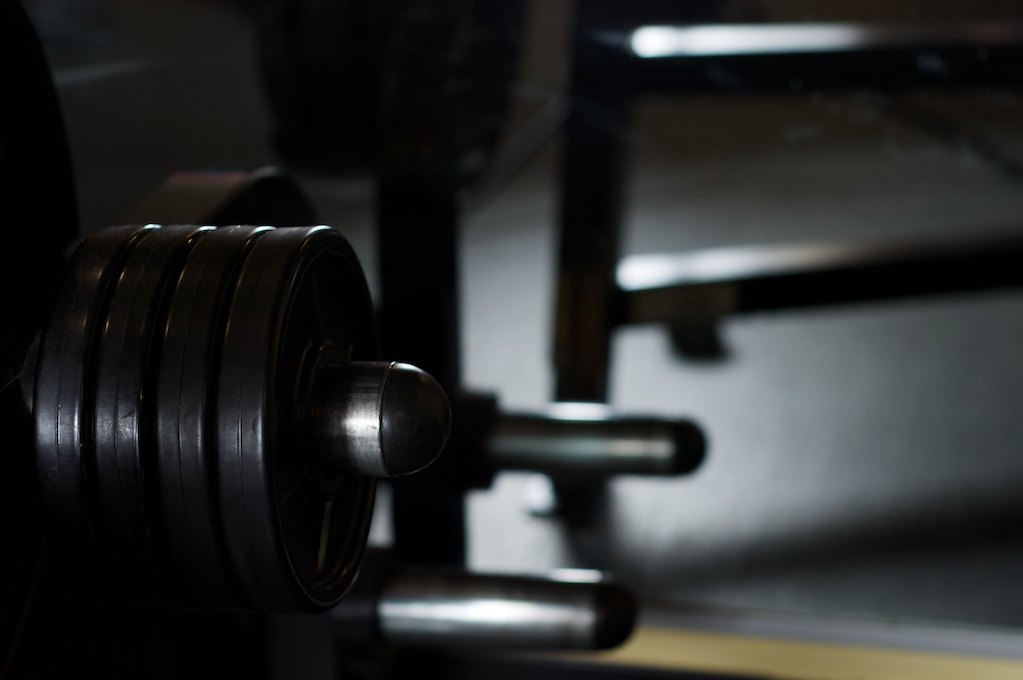 photo of weight rack