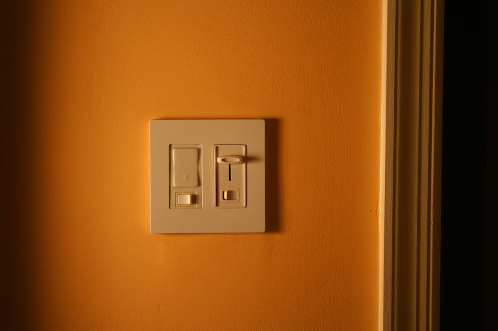 photo of a light switch