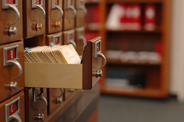 photo of library card catalog